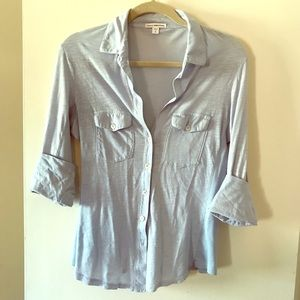 Baby Blue James Perse Blouse